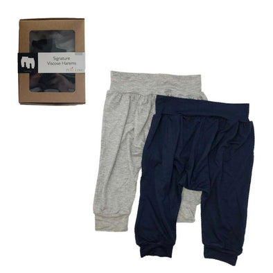 Signature Harem Set - Navy & Light Grey