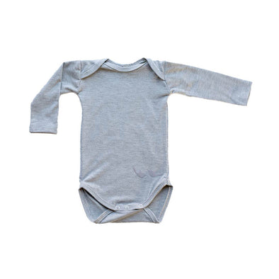 Signature Longsleeved Babygrow - Light Grey