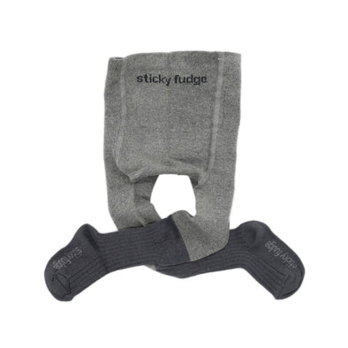 Sticky Fudge Stockings - Grey Two Tone