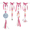 Natural Dingle Dangle Set - Blushing Flamingo