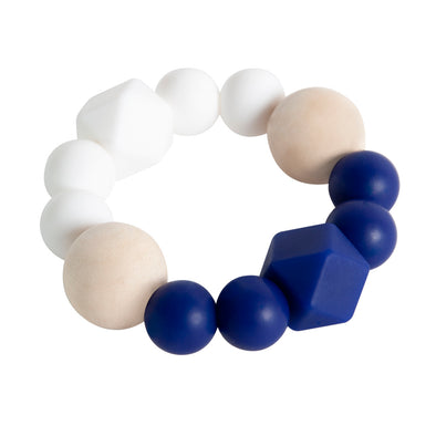 Textured Teether - Navy Contrast