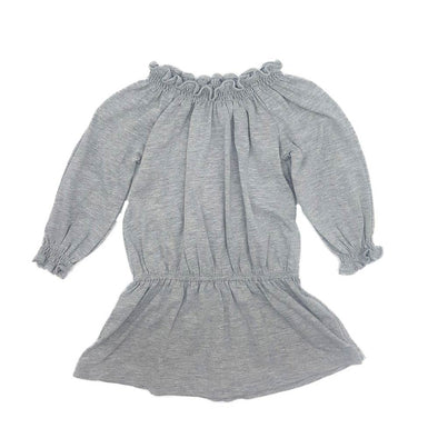 Sydney Ruffle Dress - Grey Melange