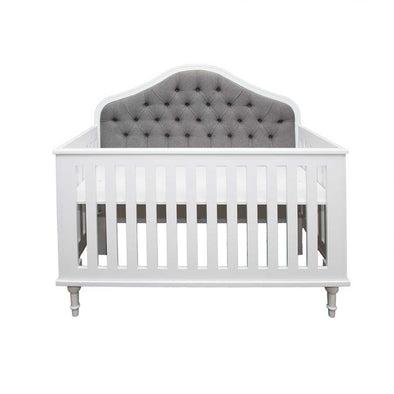 Victorian Upholstered Cot - White
