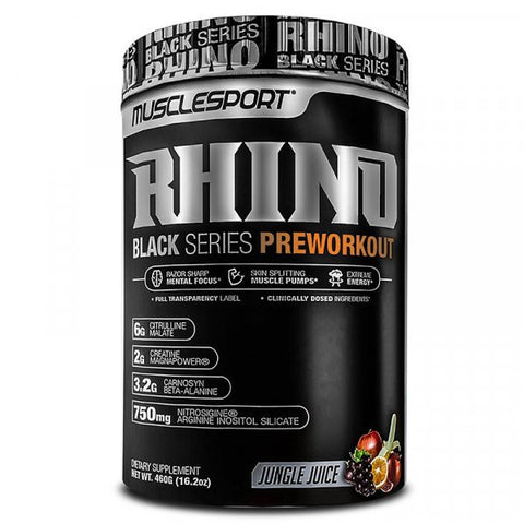 RHINO BLACK PREWORKOUT