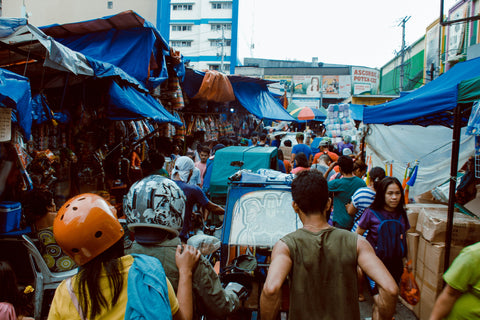 busy marketplace