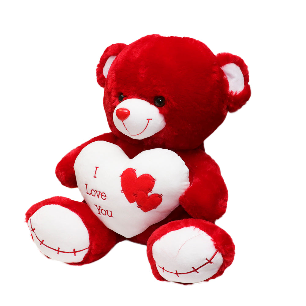 Cuddles Red White Bear