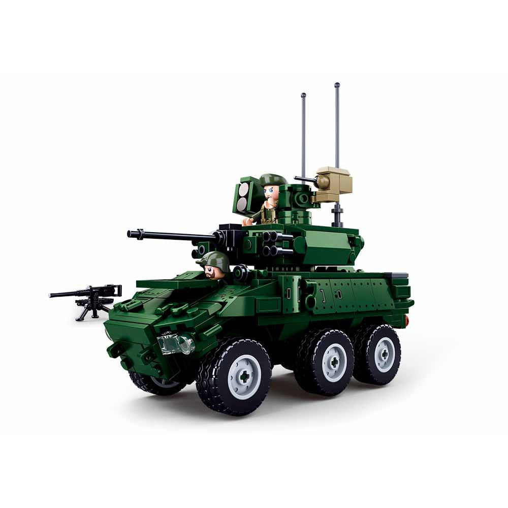Sluban Model Bricks-Ebrc 6*6 Wheeled Infantry Combat Vehicle