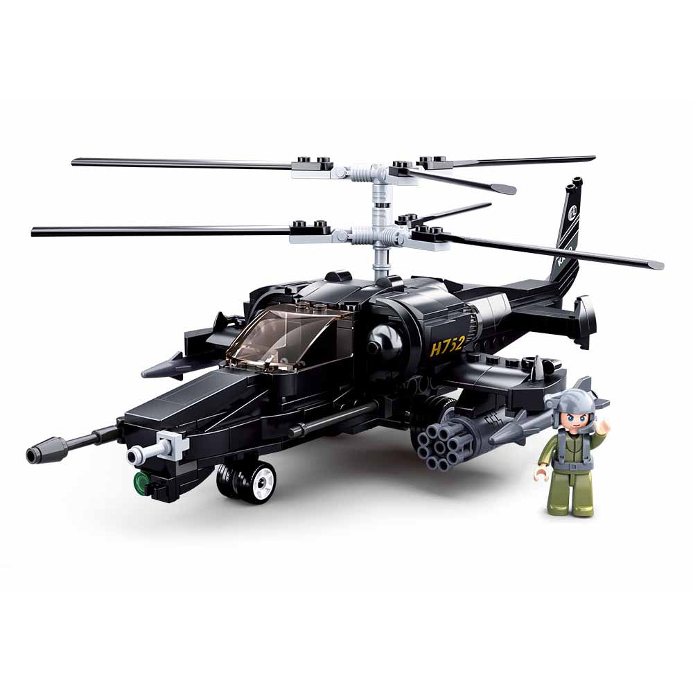 Sluban Model Bricks-Ka-50 Black Shark