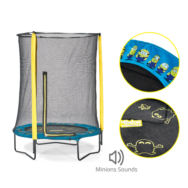 Plum Minions 4.5 Feet Trampoline & Enclosure
