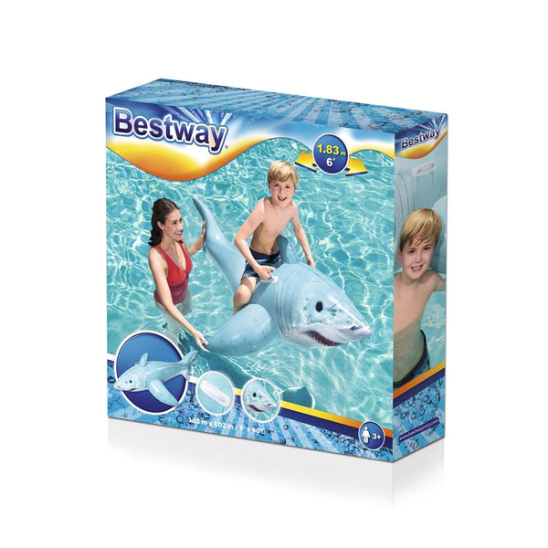 Bestway 61.83m x 1.02m Realistic Shark Ride-On