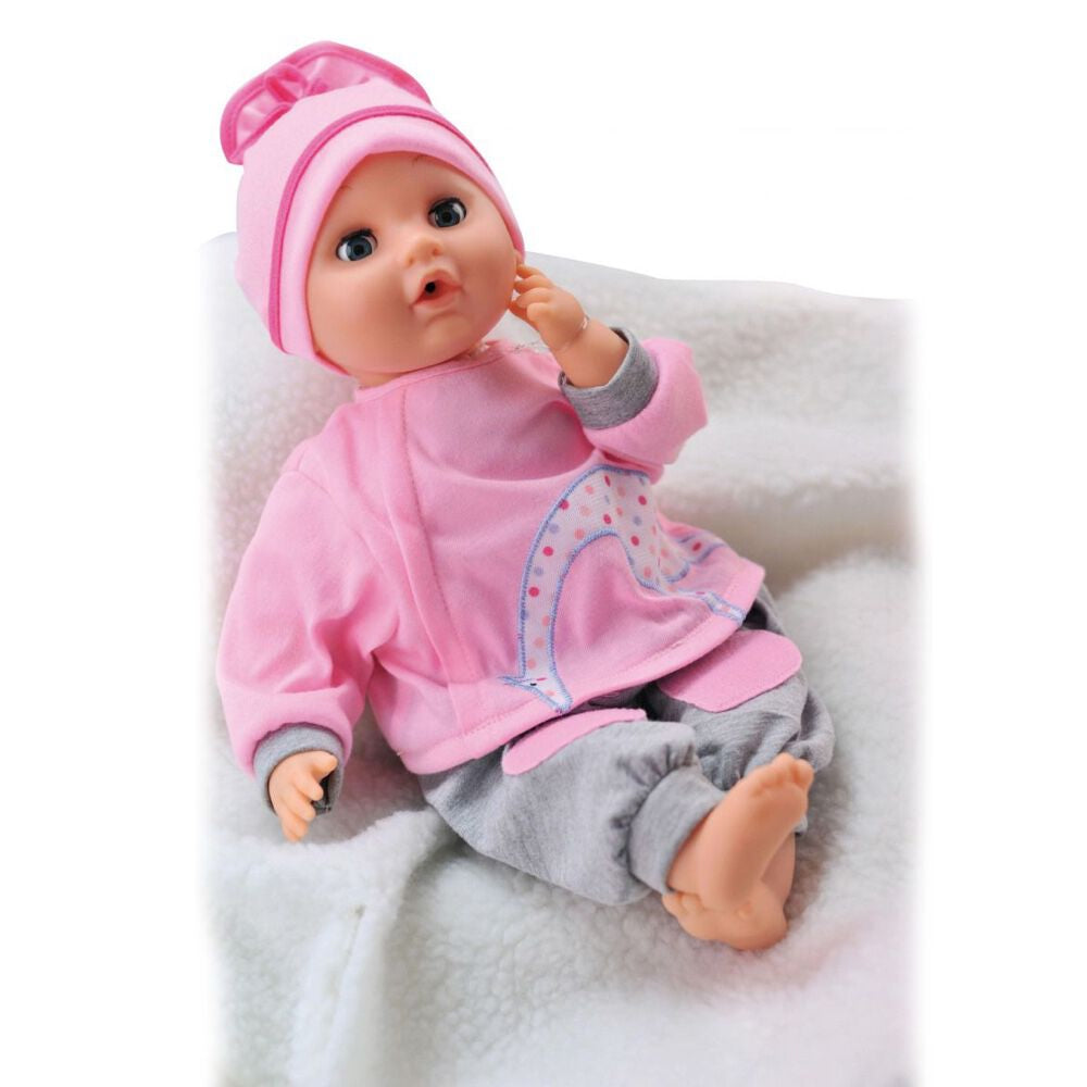 Bambolina 40Cm Doll With Mouth Movement + 10 Life-Like Sounds & Acc