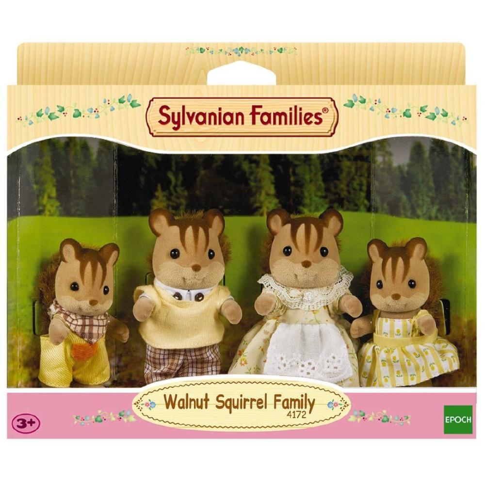 Sylvanian Family Walnut Squirrel Family