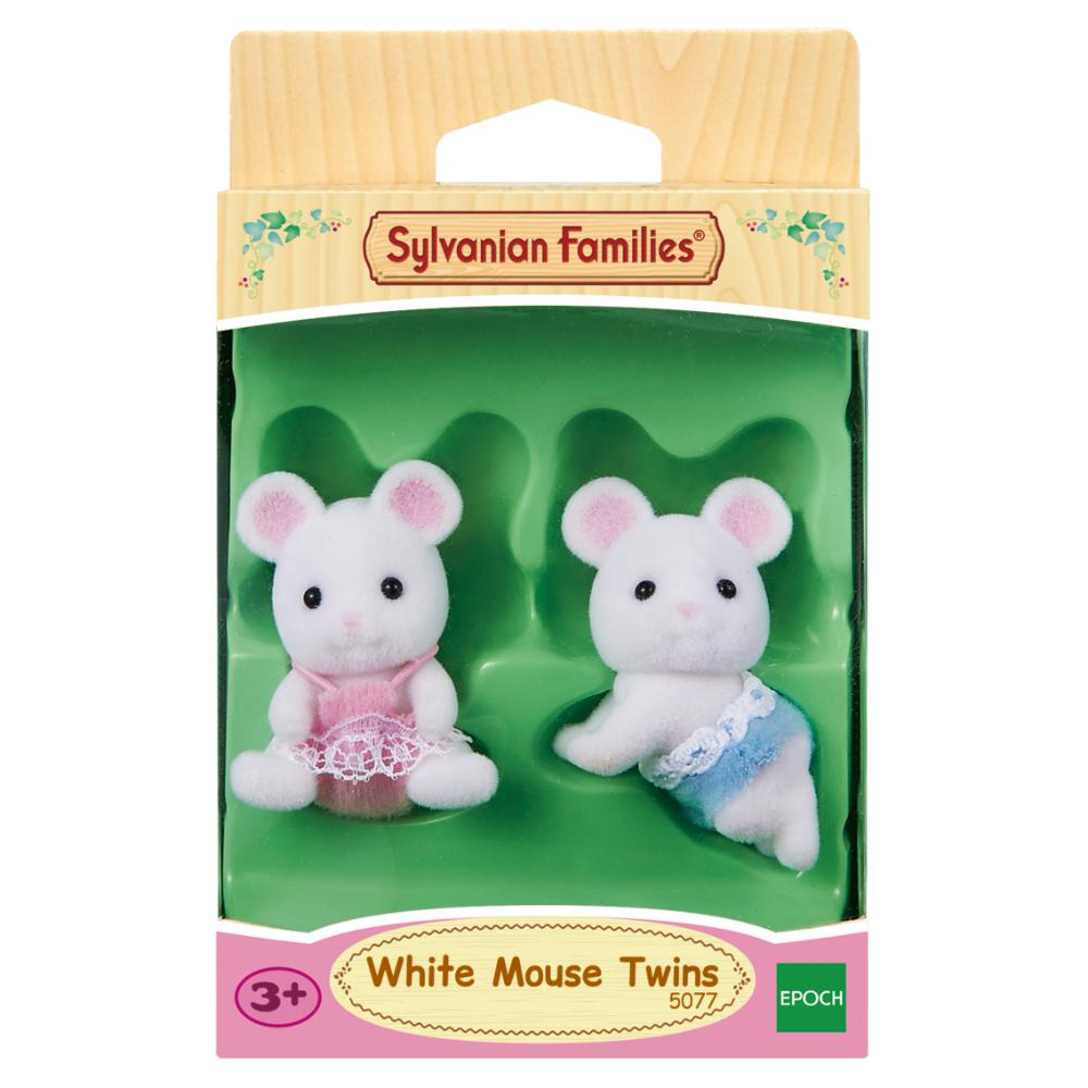 Sylvanian Family White Mouse Twins