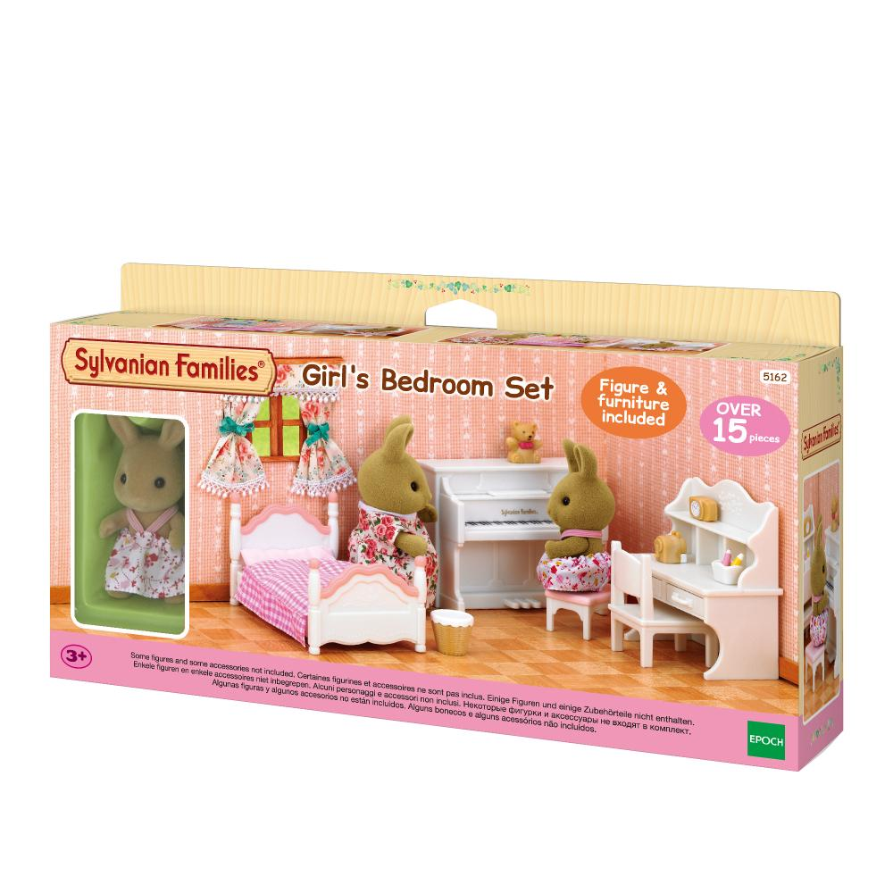 Sylvanian Family Girls Bedroom Set (With Rabbit Sister