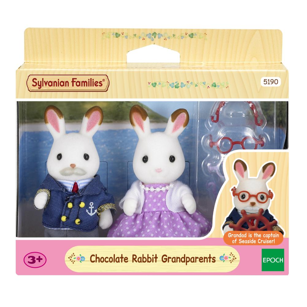 Sylvanian Family Chocolate Rabbit Grandparents