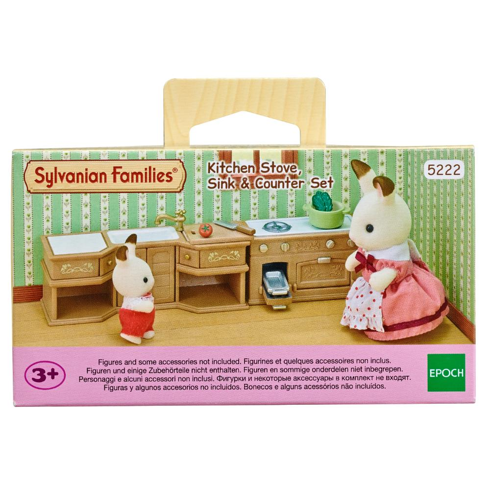 Sylvanian Family Kitchen Stove Sink & Counter Set