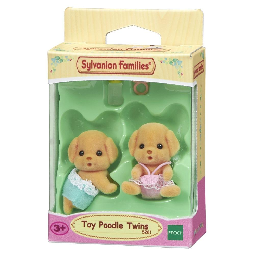 Sylvanian Family Toy Poodle Twins