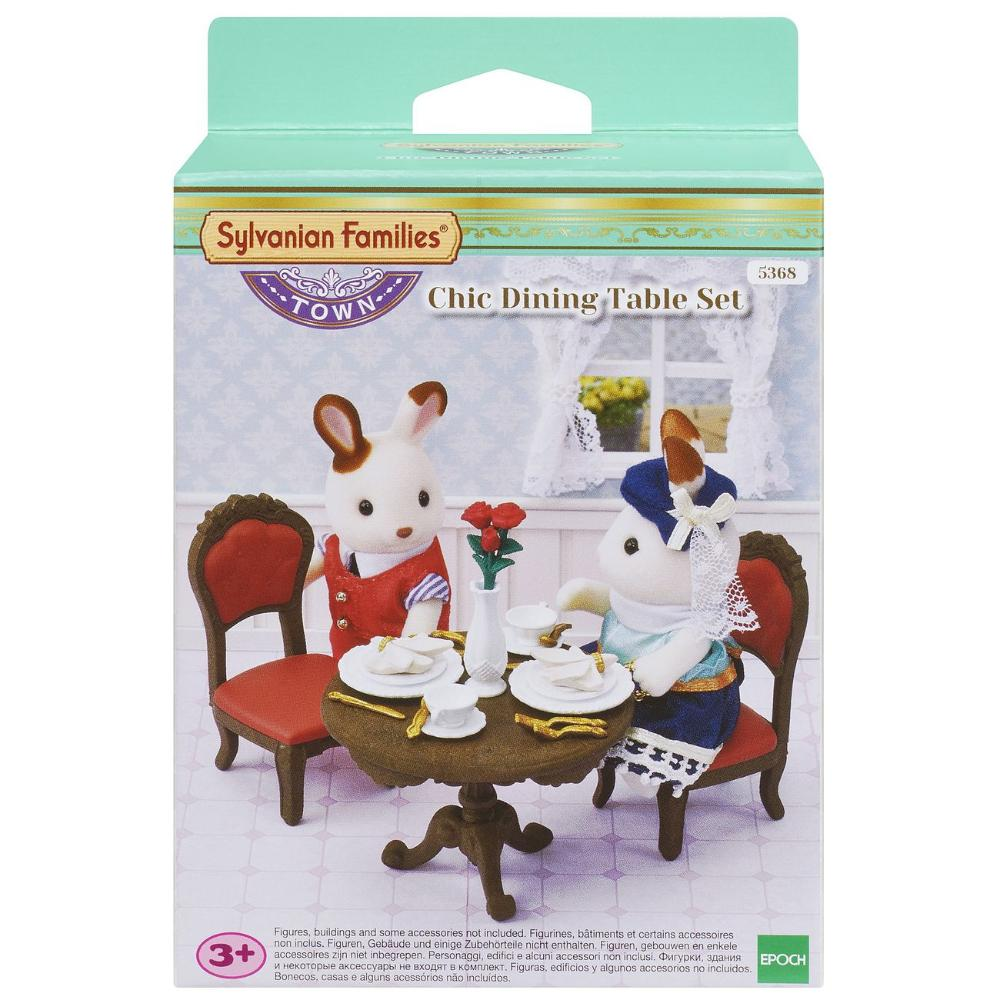 Sylvanian Family Chic Dining Table Set