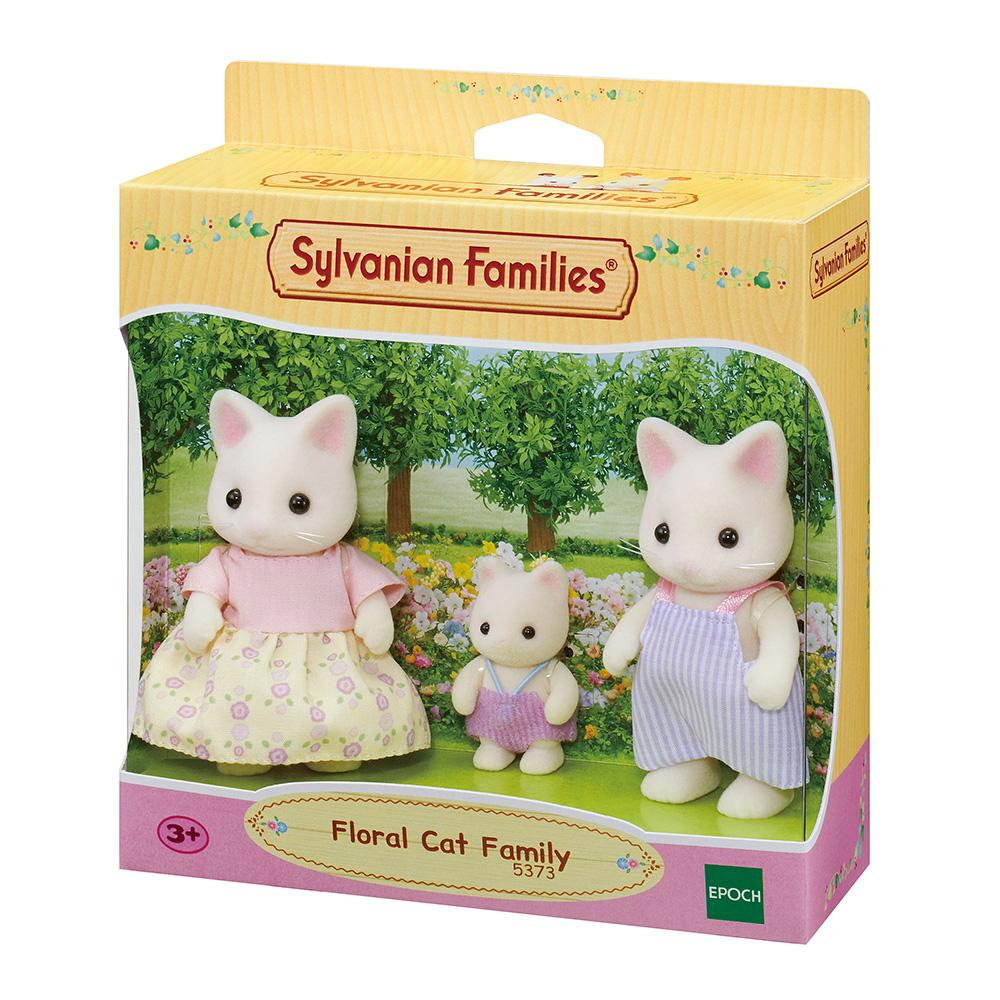 Sylvanian Family Floral Cat Family