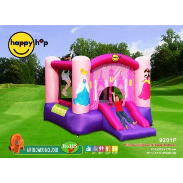 Happy Hop Princess Slide and Hoop Bouncer