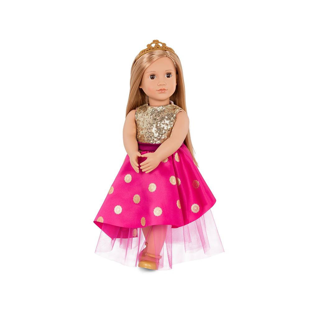 Our Generation Doll W/ Long Festive Dress & Tiara, Sarah