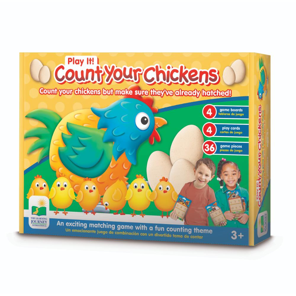 The Learning Journey Play It! Game - Count Your Chickens (New)