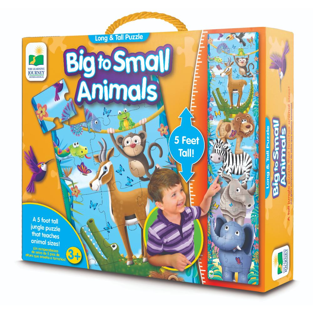 The Learning Journey Long & Tall Puzzles - Big To Small Animals (New)  Image#1
