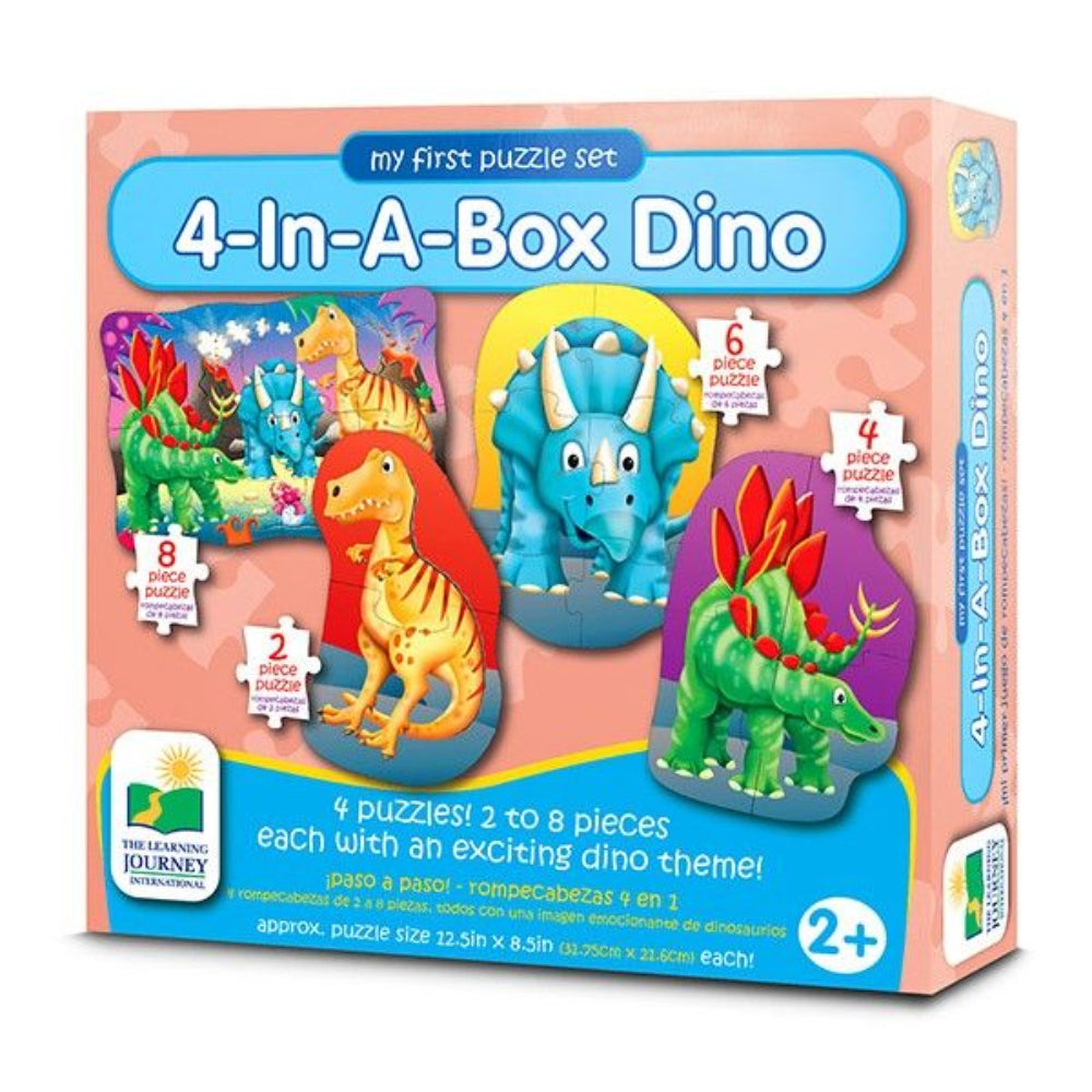 The Learning Journey My First Puzzle Sets 4 In A Box Puzzles Dino