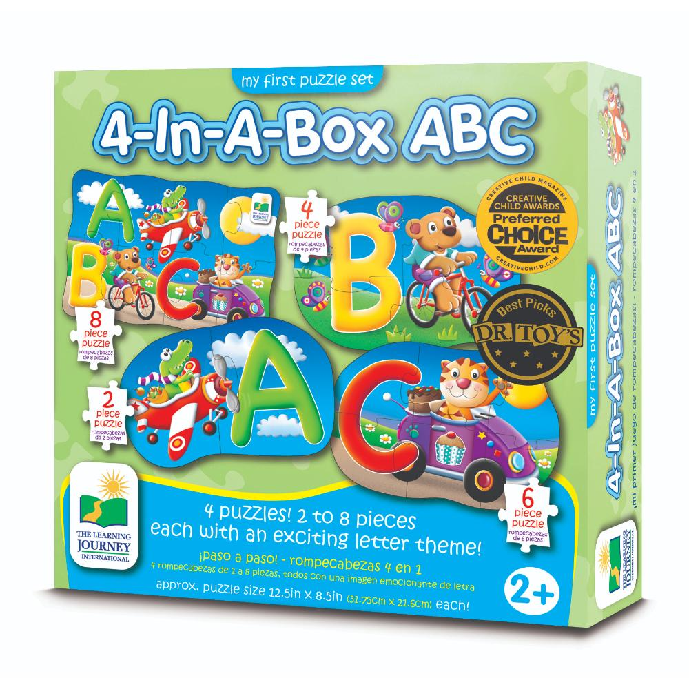 The Learning Journey My First Puzzle Sets 4-In-A-Box Puzzles - Abc