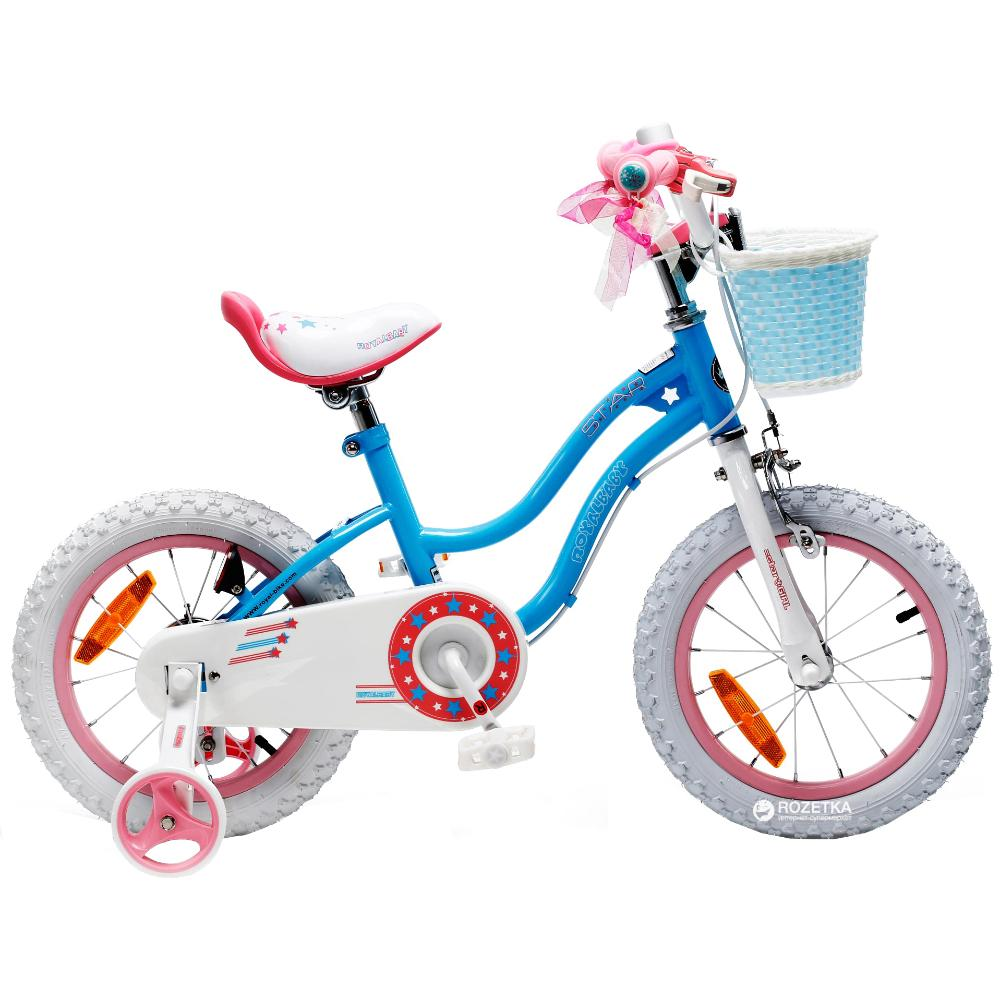 Royal Baby Star Girl Bicycle 14In-Blue