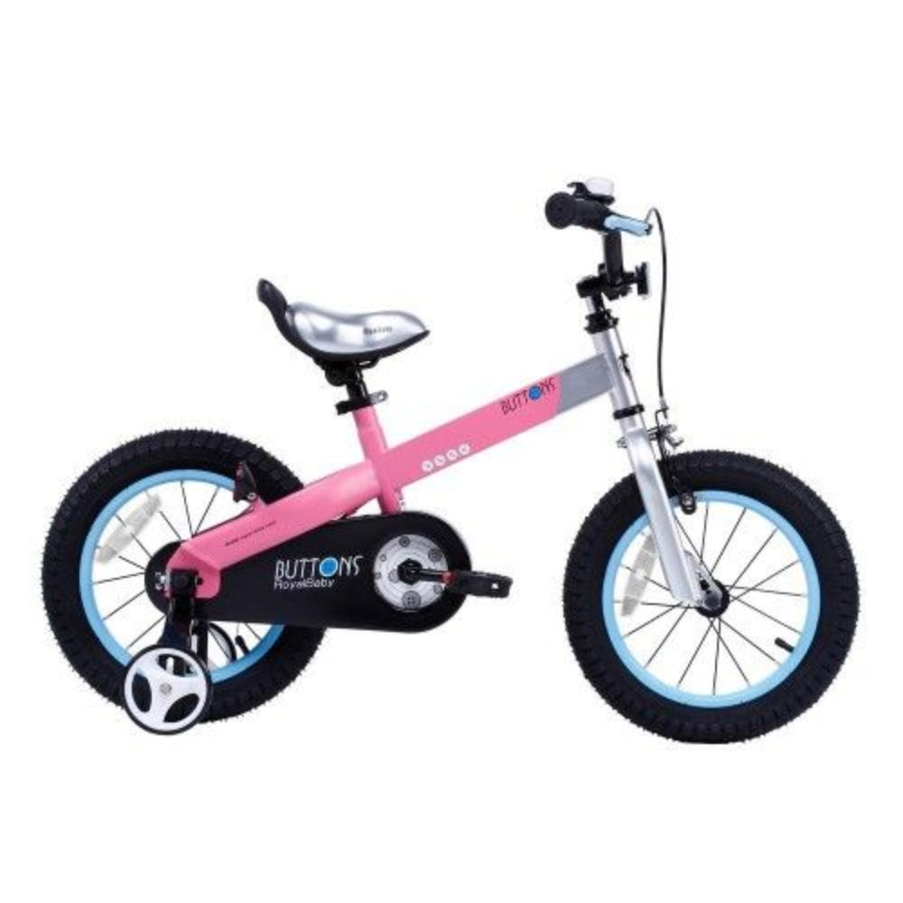 Royal Baby Aluminium Buttons Kids Bike.12 Inch Pink