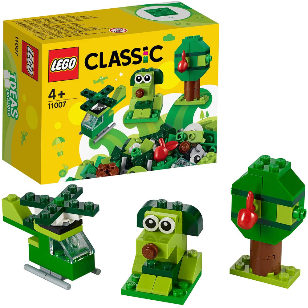 LEGO Classic 11007 Creative Green Bricks Building Kit (60 Pieces)