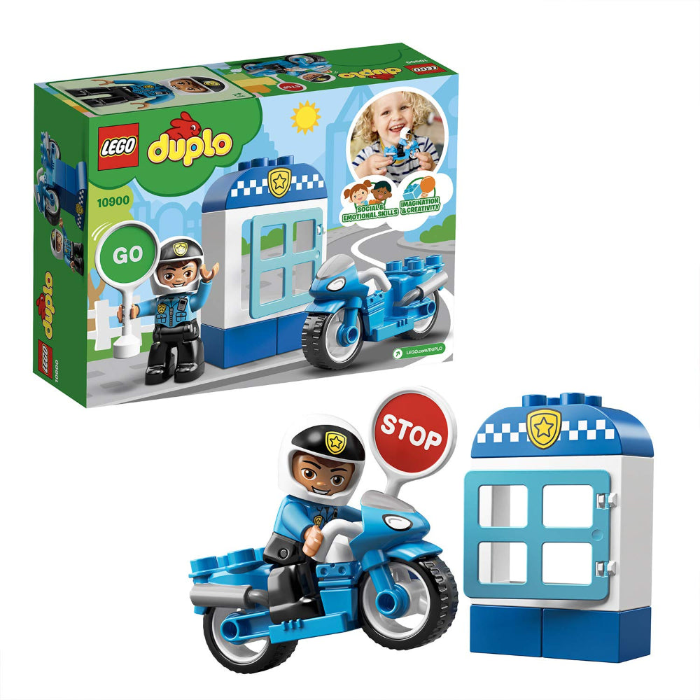 Lego Duplo Police Bike Building Blocks For Kids (8 Pcs)
