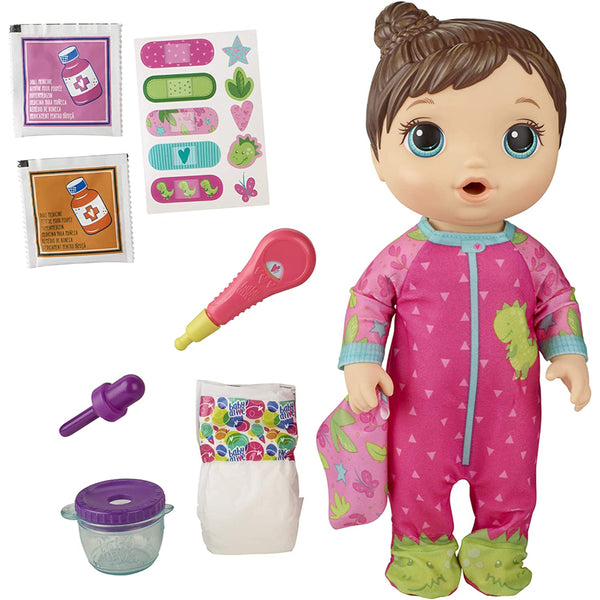 Baby Alive Baby Doll Brown Hair Toy