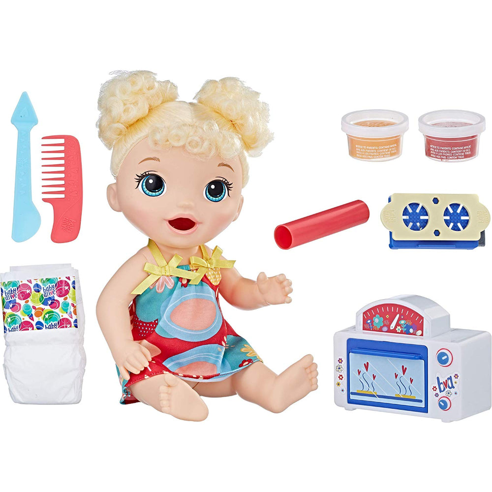 Baby Alive Snackin Treat Baby Blonde  Image#1