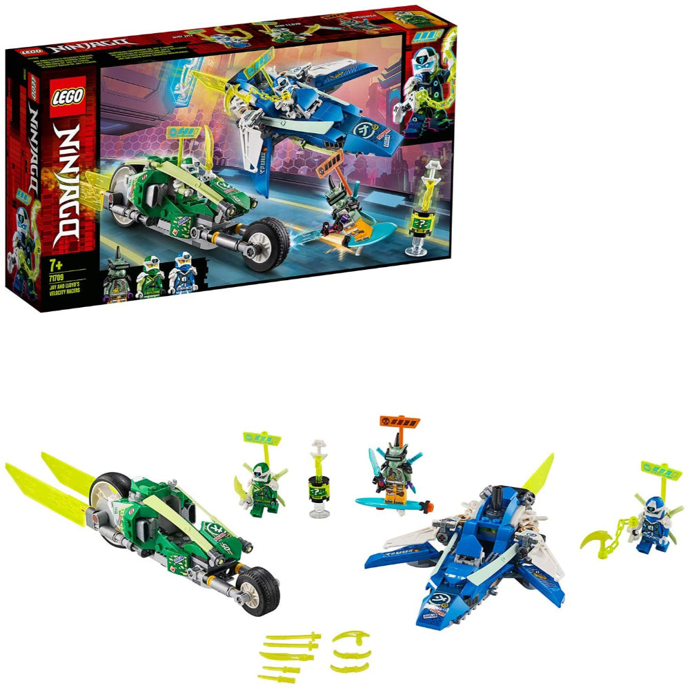 Lego Ninjago Jay and Lloyd's Velocity Racers with Plane and Bike Speeders