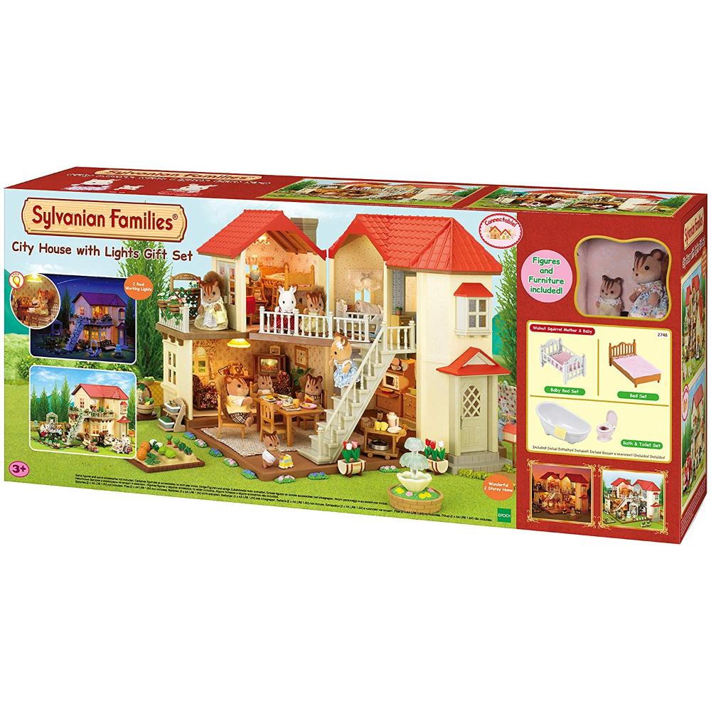 Sylvanian Family City House W/Lights Gift F