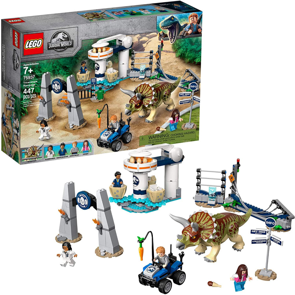 Lego Jurassic World Triceratops Rampage (447 Pieces)
