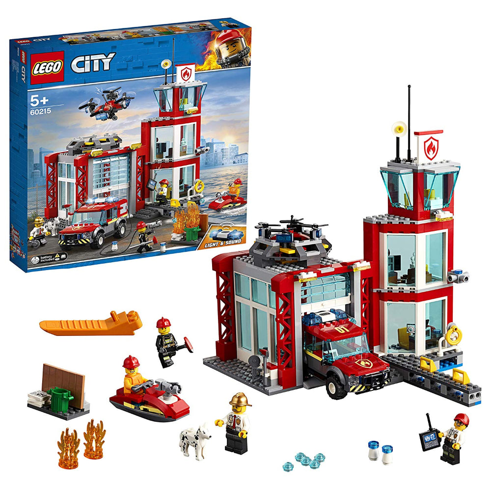 Lego City Fire Station (509 Pieces)