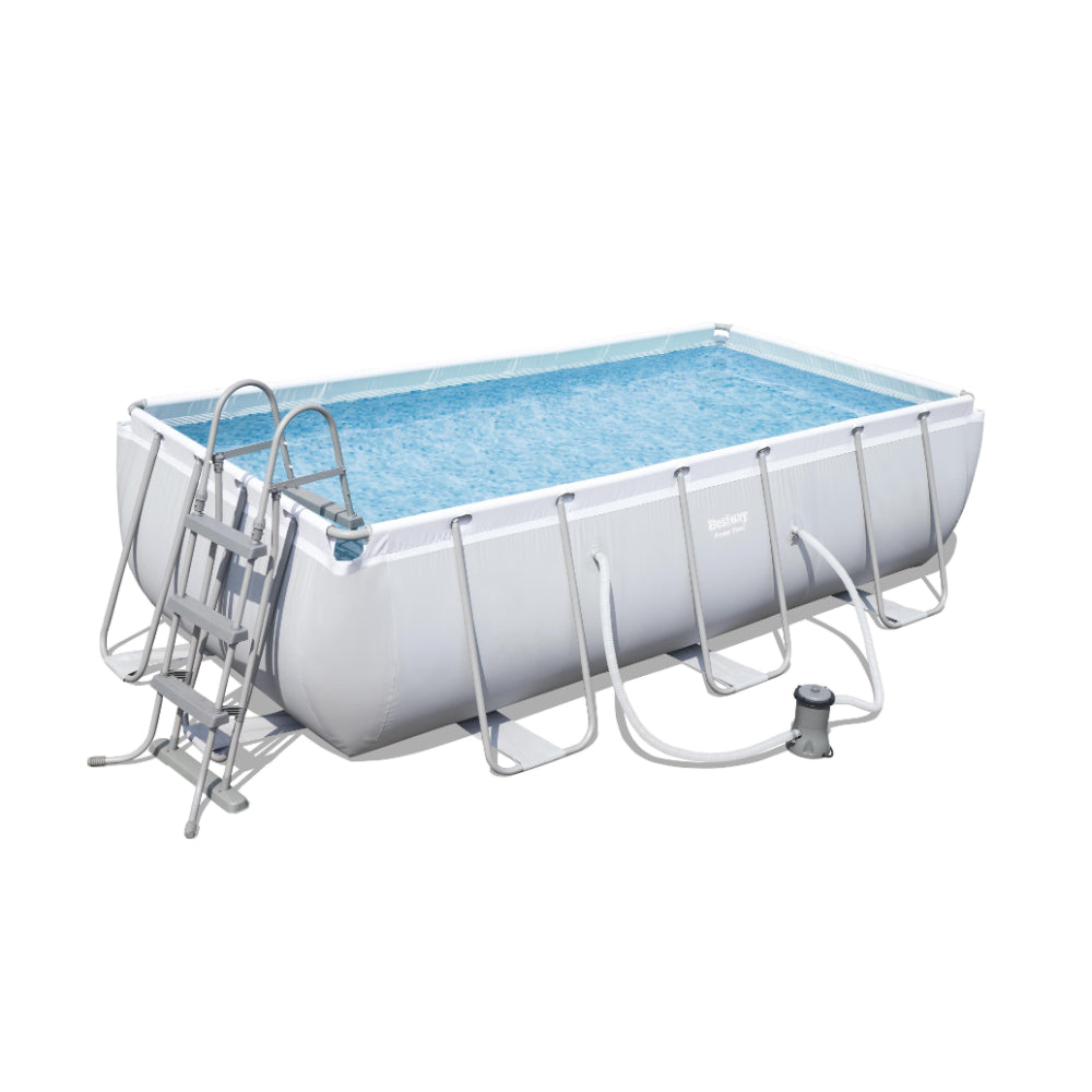 Bestway Power Steel Rectangular Pool Set 4.04m x 2.01m x 1.00m