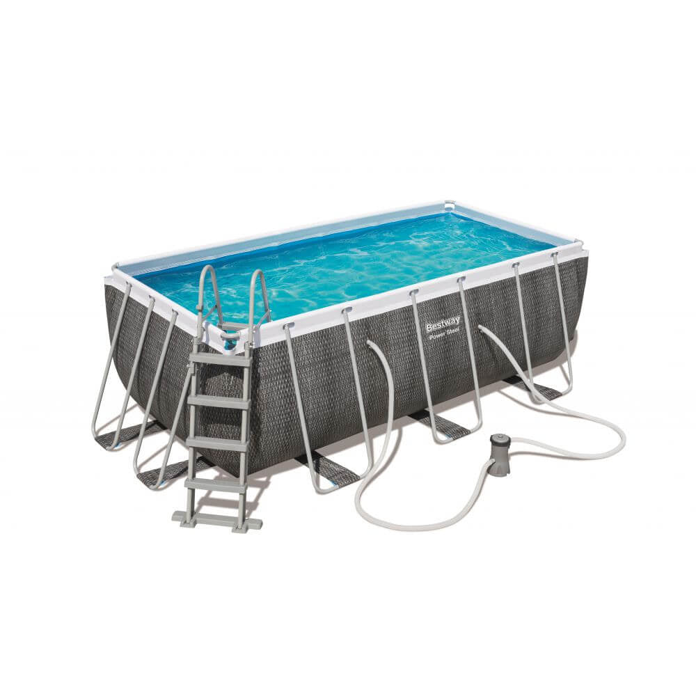 Bestway - Power Steel Rectangular Pool Set (4.88m x 2.44m x 1.22m)