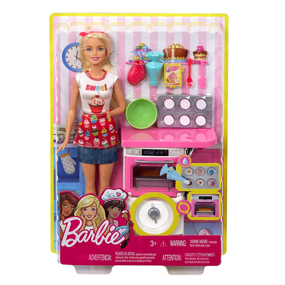 Barbie Bakery Chef Doll And Playset, Blonde