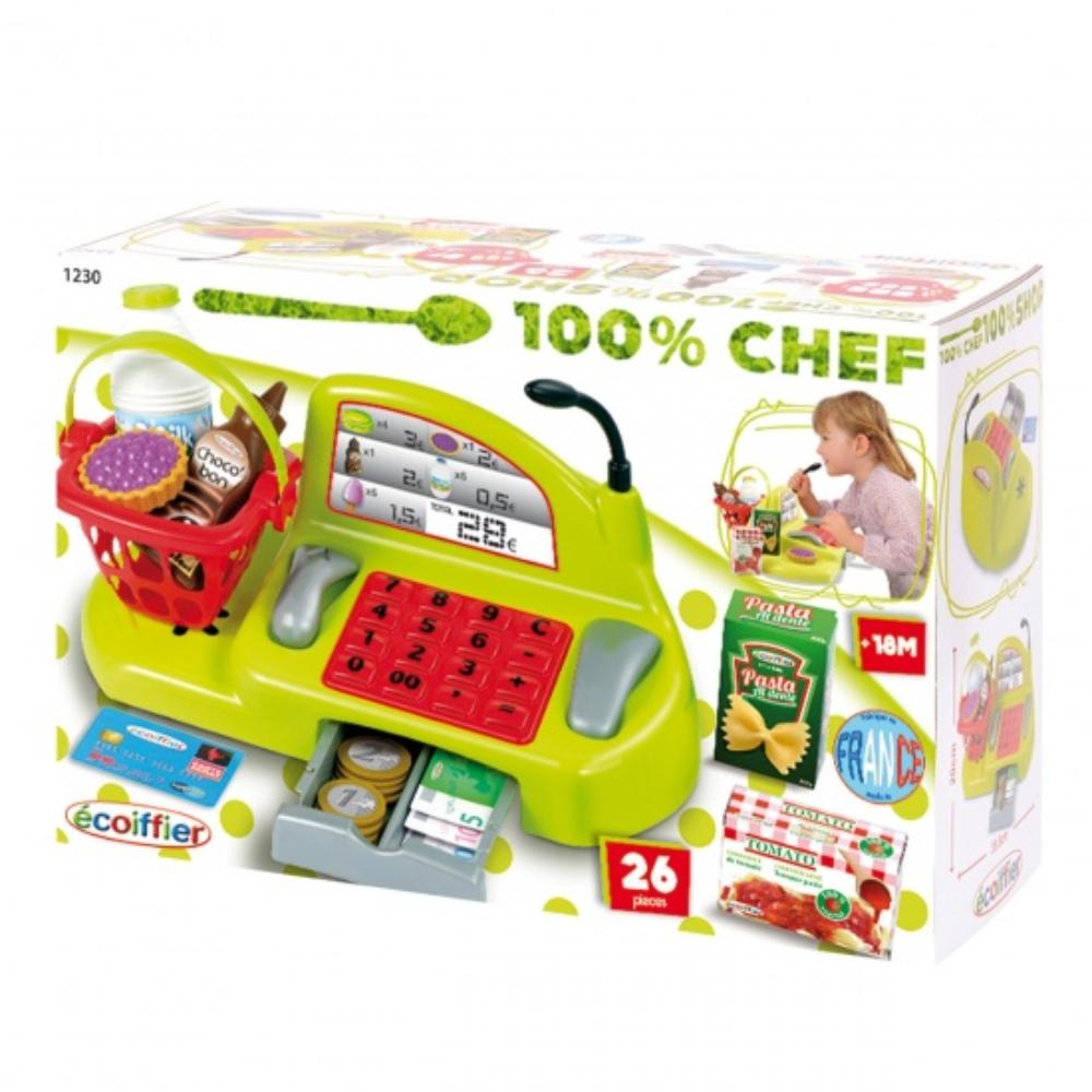 Ecoiffier 100% Chef Cash Register 26Pcs