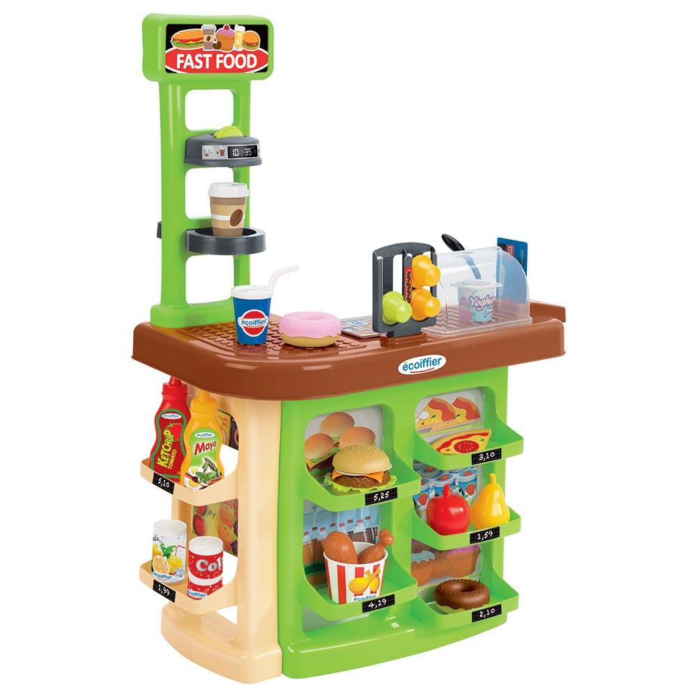 Ecoiffier 100% Chef Fast Food Center 23 Accessories