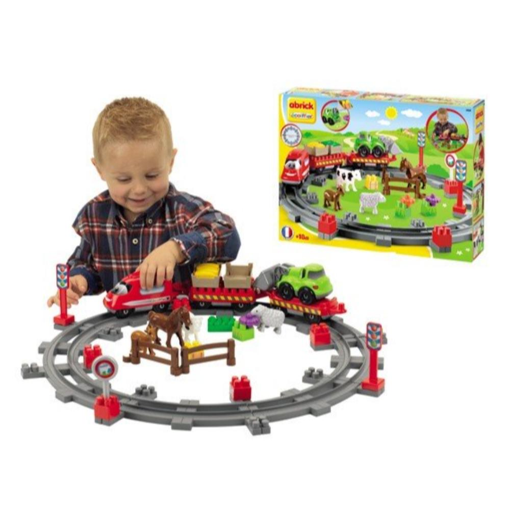 Ecoiffier Abrick Country Train Play Set