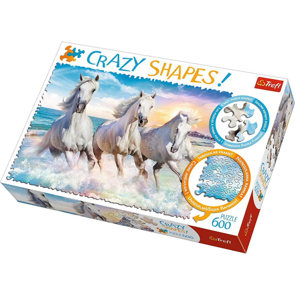 Trefl Puzzles  600 Crazy Shapes  Galloping Among The Waves