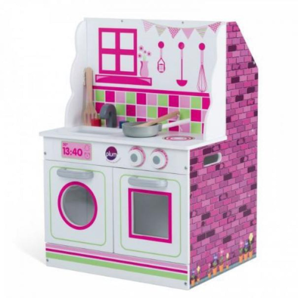 Plum 2 In 1 Dolls House And Kitchen