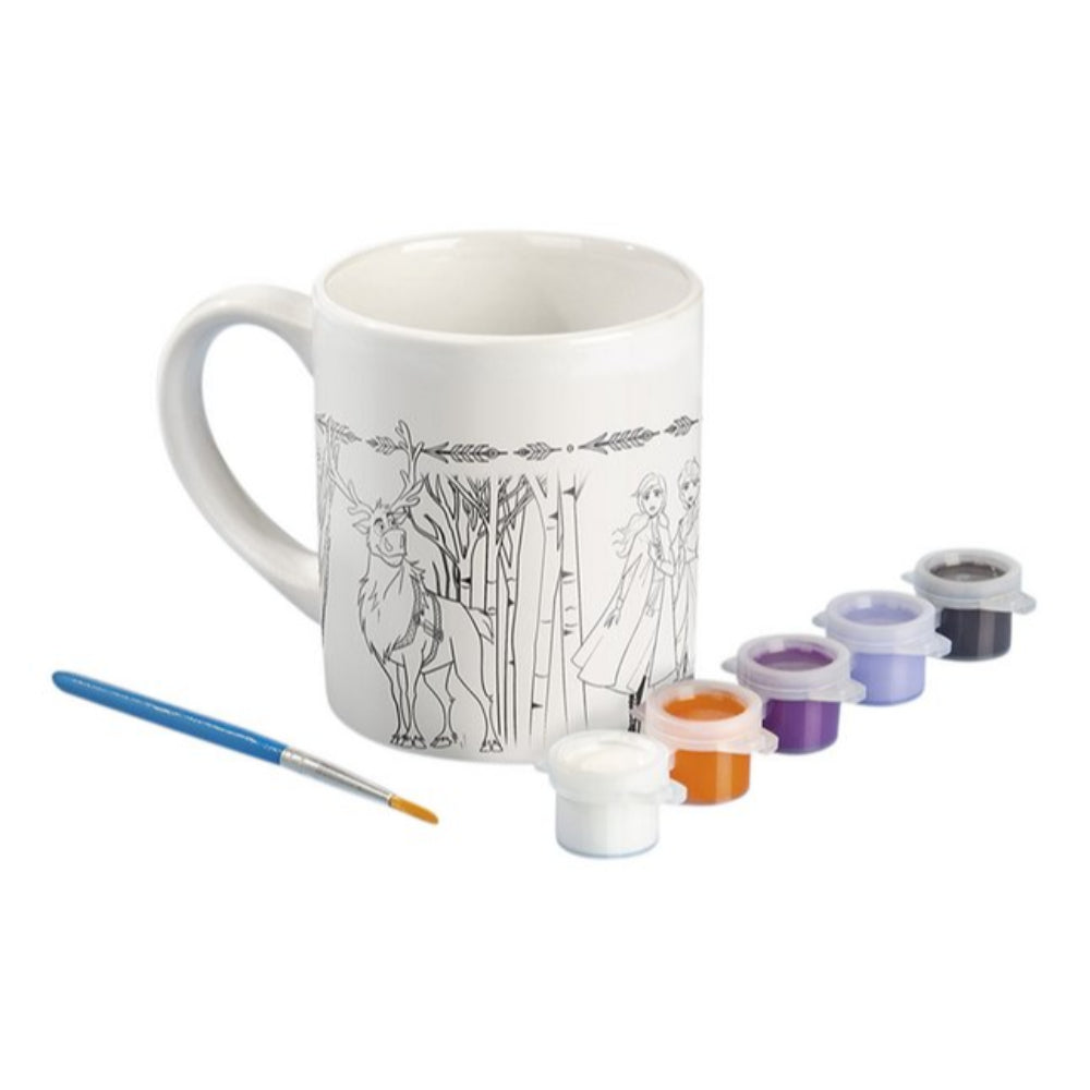 Frozen Disney Paint Your Own Mug (Ceramic Mug, 1Brush, 5Colour Paint)