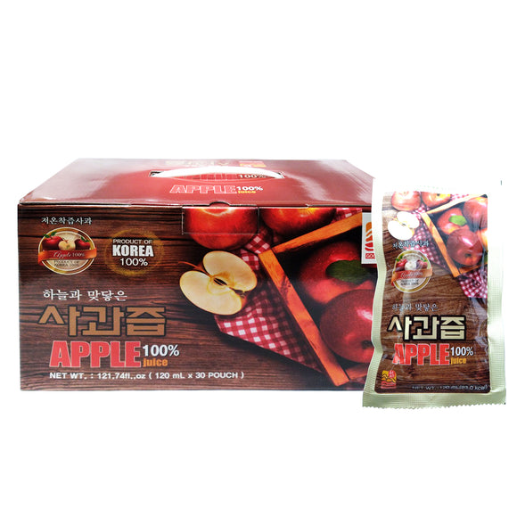 Korean Apple Extract Juice, 100% Natural Extract (120ml x 30 pouches)
