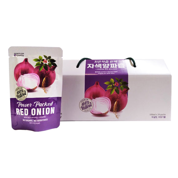 Korean Red Onion Extract Juice, 100% Natural Extract (100ml x 30 pouches)